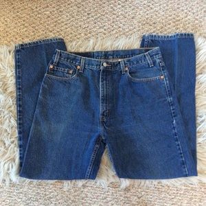 Levi's 505 Straight Leg Regular Fit Blue Jeans